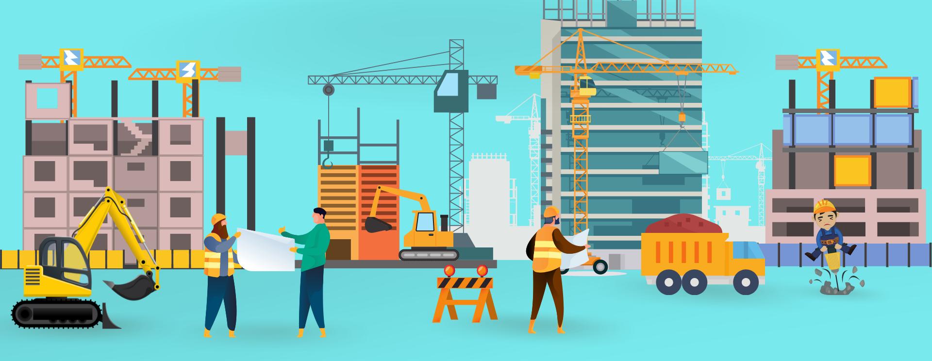 Construction Landing Page Website Banner
