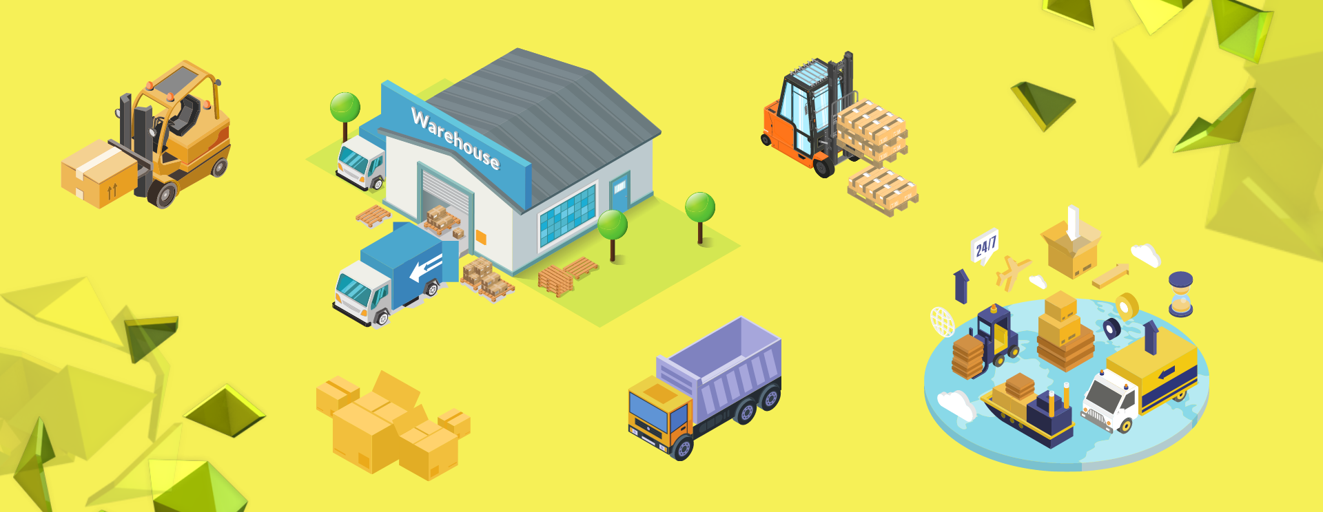 Logistic Landing Page Website Banner