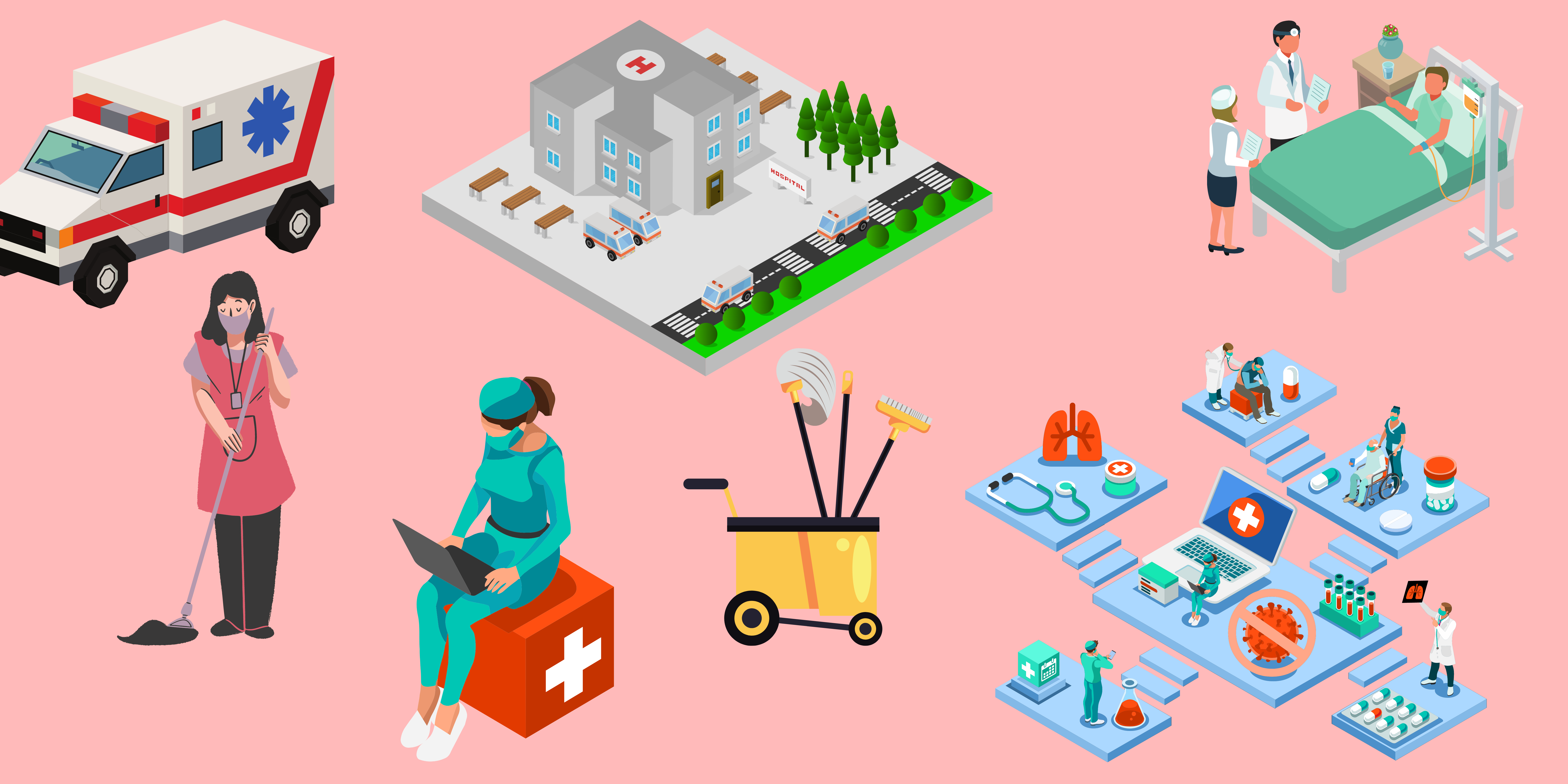 Healthcare and Hygiene Industry Banner